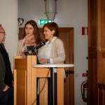 Jasna Jasarevic, Amila Dedovic och Jan Pettersson talar innan föreläsning