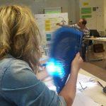 Spanska Cristina fläktar sig i 32-gradig värme