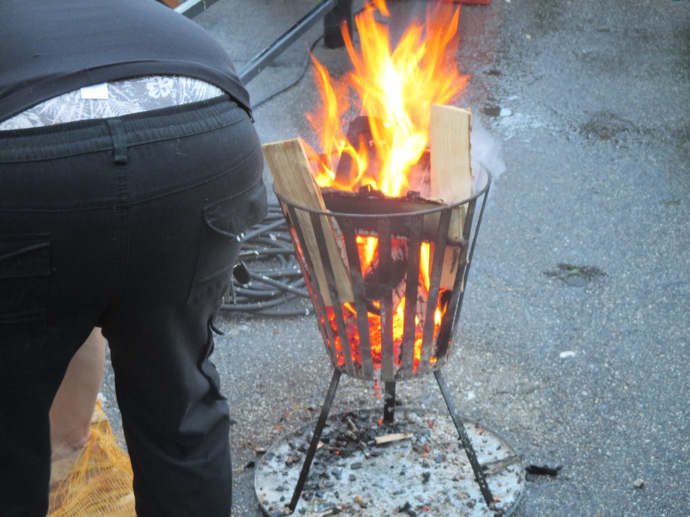 eld i baken